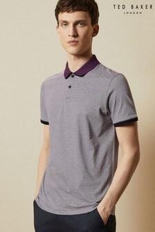 Ted Baker Caffeine Striped Cotton Polo Shirt