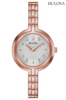 Bulova Rhapsody Rose Gold Diamond Bracelet Watch