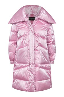Girls Pink Down Padded Coat
