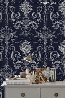 Laura Ashley Midnight Josette Wallpaper