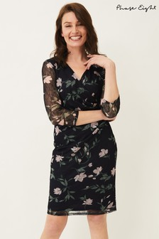 Phase Eight Multi Leigh-Ann Lace Sleeved Dress