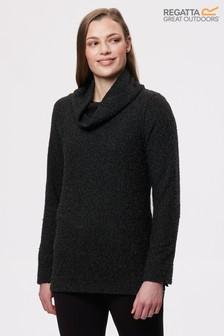 Regatta Grey Quenby Cowl Neck Jumper