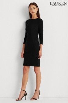 Lauren Ralph Lauren® Black Stretch Button Detail Romee Dress