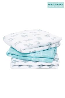 aden + anais Cotton Muslin Now + Zen Musy Squares 3 Pack