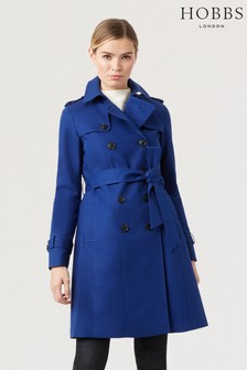 Hobbs Blue Saskia Trench Jacket