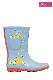 Joules Blue Jnr Roll Up Wellies