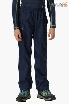 Regatta Blue Kids Pack It Waterproof Overtrousers