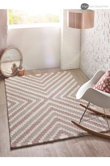 Lulu Wool Geo Rug by Origins