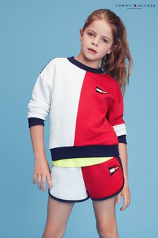 Tommy Hilfiger Red Colourblock Sweatshirt