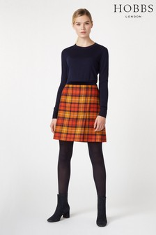 Hobbs Orange Christine Skirt
