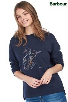 Barbour®Coastal Navy Girlfriend Fit Newhaven Bird Sweatshirt