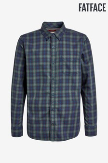 FatFace Green Tall Fit Bexley Check Shirt