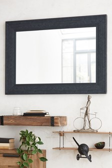 Wood Effect Over Mantle Mirror