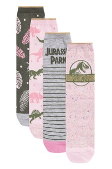Printed Ankle Socks Four Pack