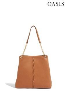 Oasis Tan Whipstitch Shoulder Bag