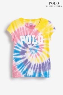 Ralph Lauren Cream Tie Dye T-Shirt