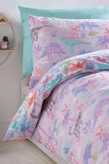 Dinosaurs Forever Reversible Duvet Cover and Pillowcase Set