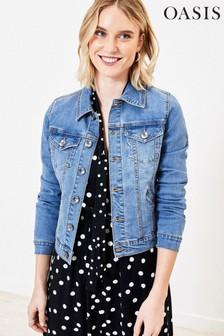 Oasis Blue Mid Wash Denim Jacket
