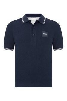 Boys Cotton Branded Polo Top