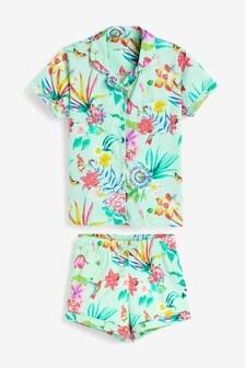 Floral Button Through Pyjamas (2-12yrs)