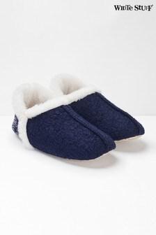 White Stuff Blue Reya Navejo Slippers