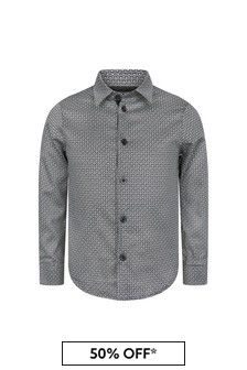 Emporio Armani Boys Grey Shirt