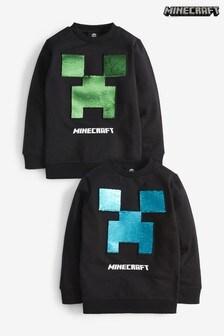 Minecraft Sequin Crew Neck Sweater (4-14yrs)