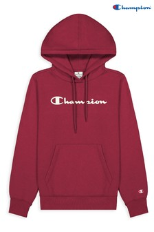 Champion Red Hooded Sweatshirt