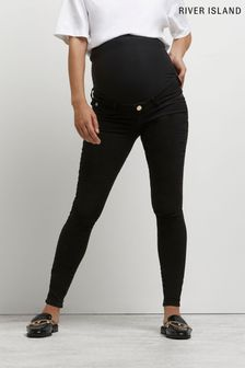 River Island Black Maternity Molly Overbump Jeans