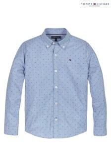 Tommy Hilfiger Blue Stripe Clipping Print Shirt