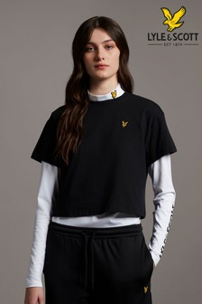 Lyle & Scott Jet Black Cropped T-Shirt