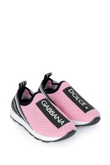 Girls Pink Logo Trainers