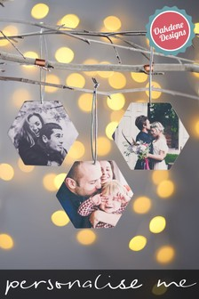 Personalised Hexagon Photo Decoration by Oakdene Designs
