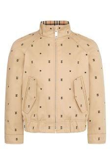 Boys Beige Cotton Jacket