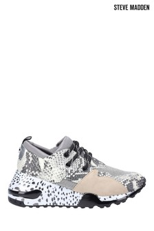 Steve Madden Silver Cliff Lace-Up Trainers