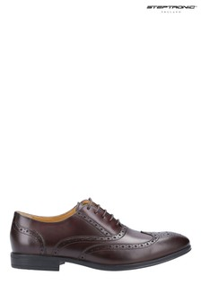 Steptronic Brown Finchley Oxford Lace-Up Shoes