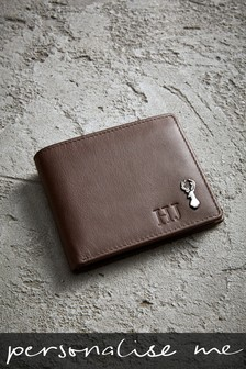 Personalised Tan Leather Wallet