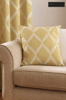 Riva Home Yellow Olivia Geo Cushion