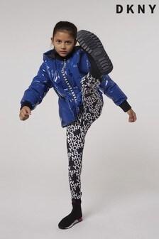 DKNY Black and White Leggings