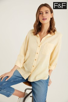 F&F Buttermilk Linen Shirt