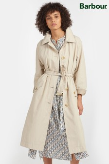 Barbour® Tartan Beige Showerproof Millford Trench Coat