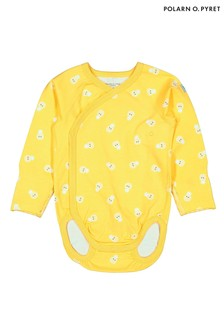 Polarn O. Pyret Yellow Organic Pineapple Print Bodysuit