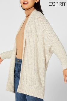Esprit Natural Loose Fit Structured Cardigan