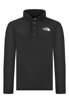 Kids Black Fleece Glacier Pullover Top