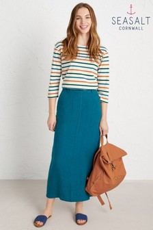 Seasalt Petite Blue Landscape Artist Skirt
