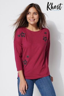 Khost Red Glitter Star T-Shirt