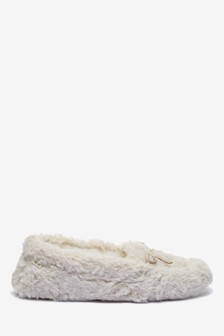 Borg Moccasin Slippers