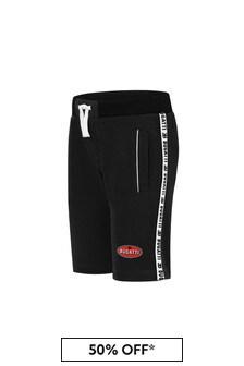 Bugatti Black Cotton Shorts
