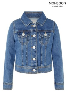 Monsoon Blue Elouise Unicorn Sequin Denim Jacket