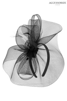 Accessorize Black Mia Mini Fascinator
